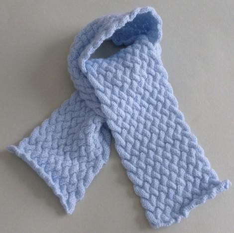 Echarpe au tricot