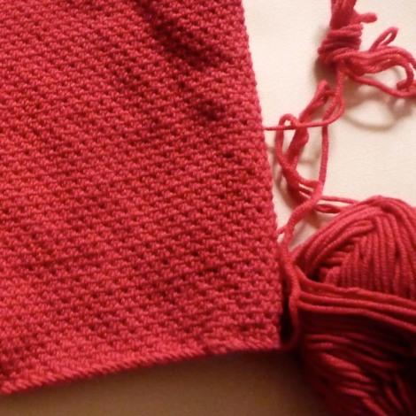 Point de demi-toile au tricot